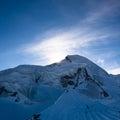 Allalinhorn mountain peak Stock Photography