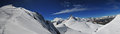Allalinhorn and rimpfischhorn seen from ascent to Royalty Free Stock Images