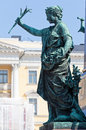 Allegorical figure abundance fertility of the monument to alexander ii the liberator at the senate square in helsinki Stock Image