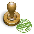 Allergen free grunge rubber stamp illustration of with the text written inside Royalty Free Stock Images