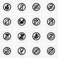 Allergen free icons available in high resolution and several sizes to fit the needs of your project Royalty Free Stock Images
