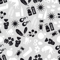 Allergy and allergens gray seamless pattern