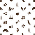 Allergy and allergens icons seamless pattern