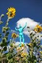 Allerton park - singer statue Royalty Free Stock Photo