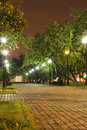 Alley in the city center Balashikha Stock Images
