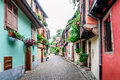 Alley in a medieval town Royalty Free Stock Photo
