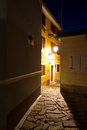 Alley at night Royalty Free Stock Photography