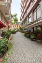 Alley on old istanbul town. Royalty Free Stock Photo