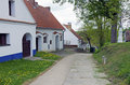 The alley of the old moravian wine cellars dolni bojanovice in czech republic Royalty Free Stock Photo
