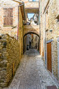 Alley in sassocorvaro view of a little street the italian marches Royalty Free Stock Photo