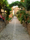 Alley in a small mediterranean town Stock Photography