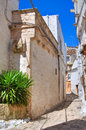 Alleyway ceglie messapica puglia italy of Royalty Free Stock Photo