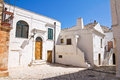 Alleyway ceglie messapica puglia italy perspective of an of Royalty Free Stock Photo