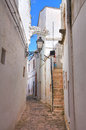 Alleyway ceglie messapica puglia italy perspective of an of Stock Image