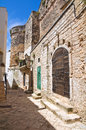 Alleyway ceglie messapica puglia italy perspective of an of Royalty Free Stock Photography