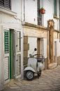 Alleyway ceglie messapica puglia italy perspective of an of Stock Images