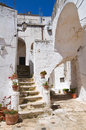 Alleyway ceglie messapica puglia italy perspective of an of Stock Photo