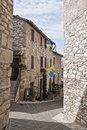 Alleyway. Corciano. Umbria. Royalty Free Stock Photo