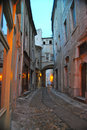 European Alleyway at Dusk Royalty Free Stock Photo