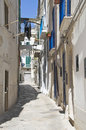 Alleyway in Monopoli Oldtown. Apulia. Stock Images
