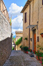 Alleyway of montefalco umbria italy Stock Photography