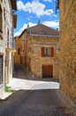 Alleyway of montefalco umbria italy Stock Photos