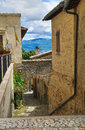 Alleyway montefalco umbria italy of Royalty Free Stock Photo