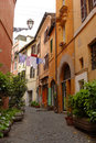 Alleyway in Rome, Italy Royalty Free Stock Photo
