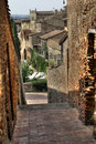 Alleyway in San Gimignano Royalty Free Stock Image
