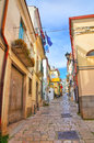 Alleyway san giovanni rotondo puglia italy of Royalty Free Stock Photography