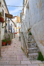 Alleyway san giovanni rotondo puglia italy of Royalty Free Stock Images