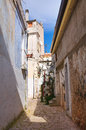 Alleyway san giovanni rotondo puglia italy of Stock Photo