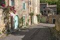 Alleyway in Southern France Royalty Free Stock Photo