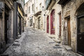 Alleyway in the town of Aubenas, France Royalty Free Stock Photo