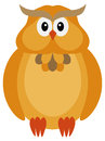 Allhelgonaaftonnedgångfärg owl illustration Arkivfoton