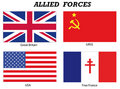 Allied Forces in World War 2 Royalty Free Stock Photo
