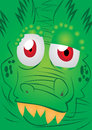 Alligator face green vector illustration Stock Image