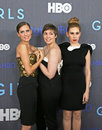 Allison Williams, Lena Dunham, Zosia Mamet Arkivfoton