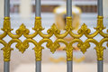 Alloy fence door pattern classic style. Royalty Free Stock Photo