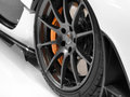 Alloy wheel close up of a sports car s Royalty Free Stock Image