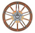 Alloy wheel or disc of sports car isolated Royalty Free Stock Photo