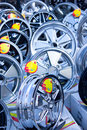 Alloy wheels many for sale Royalty Free Stock Photo