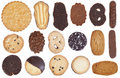 Allsorts chocolate cookies set Stock Images