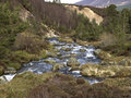 Allt mor river cairngorm mountains highlands scotland Stock Images