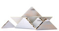 Alluminium triangle blocks on white background Royalty Free Stock Photos