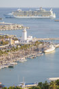 Allure of the seas in malaga spain april at harbor as first stop europe spain on april largest cruise Stock Images