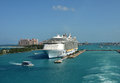 Allure of the seas in nassau bahamas december royal caribbean megaship sears prepares for departure from bahamas on december Royalty Free Stock Photography