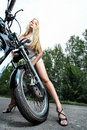 Alluring biker Royalty Free Stock Photography