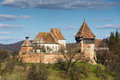 Alma vii fortified church in sibiu transylvania Stock Image