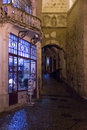 Almedina gate at night coimbra portugal the medieval moorish of Royalty Free Stock Photography